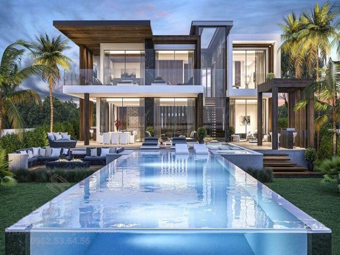 Thiết kế hồ bơi cho sân vườn biệt thự