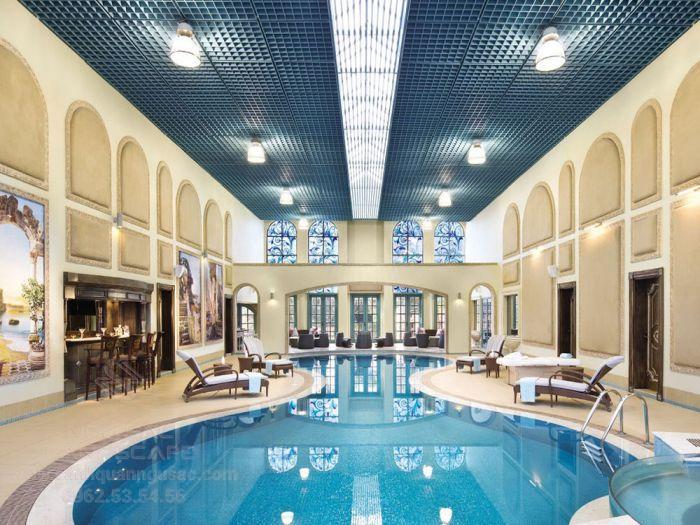 Thiết kế hồ bơi trong nhà đẹp