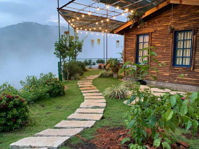 Ý tưởng thiết kế sân vườn view núi thơ mộng