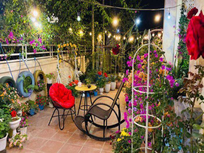 Sân vườn được trang trí và chăm sóc đúng cách