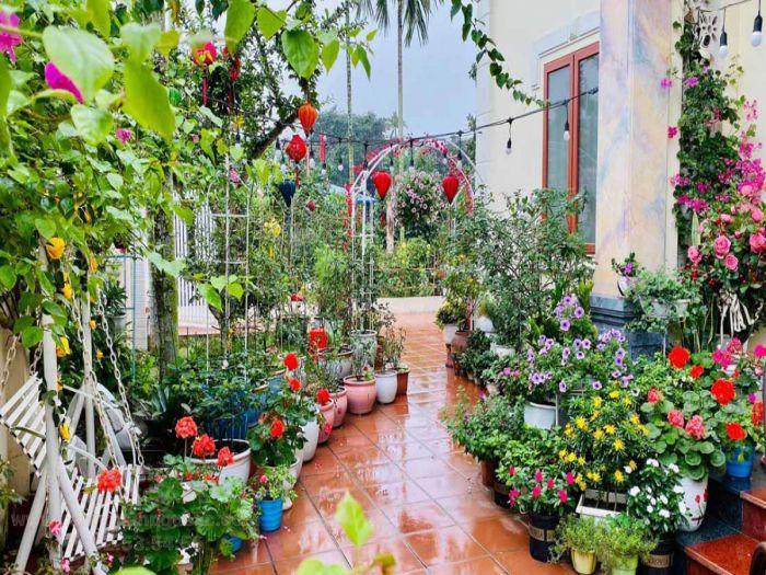 Xây dựng vườn hoa trước nhà