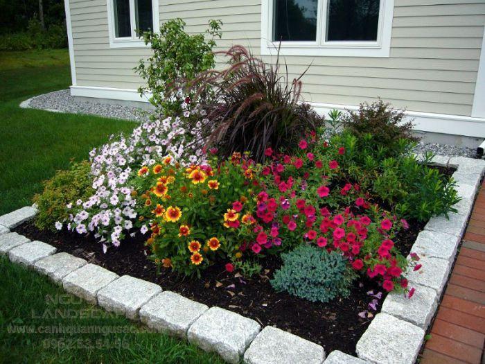Cách phối vườn hoa đẹp trong sân vườn