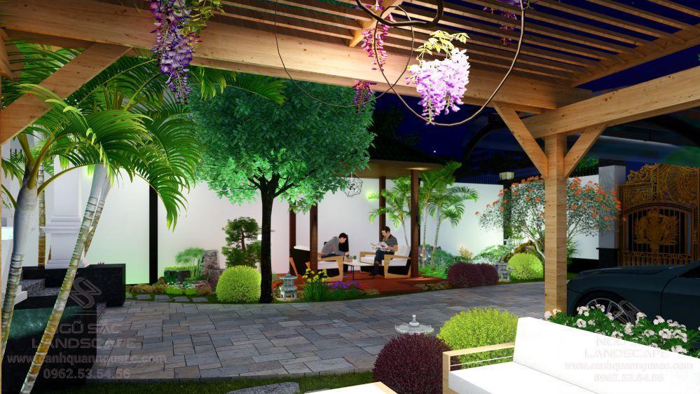 Các tiểu cảnh trong thiết kế sân vườn