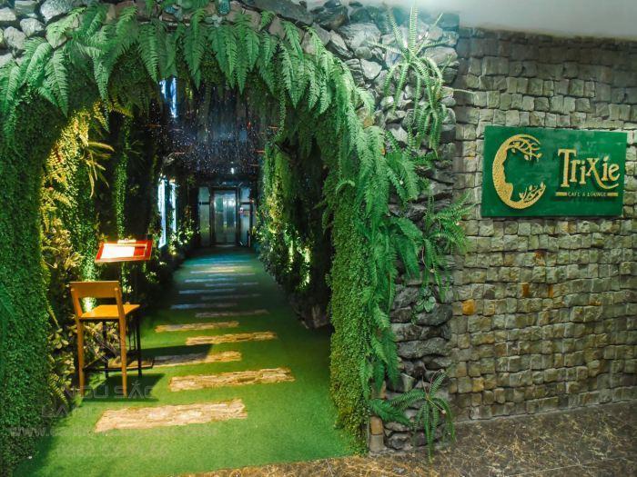 Cổng vào được thiết kế tường cây xanh