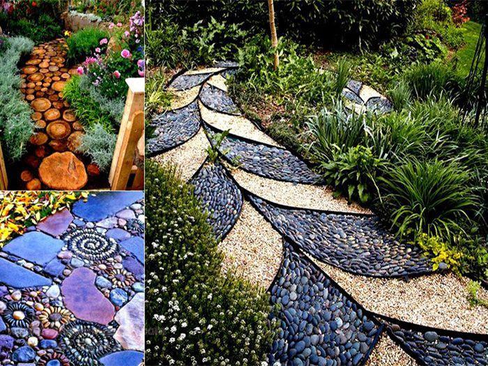 Mẫu lối đi sân vườn Mosaic sáng tạo