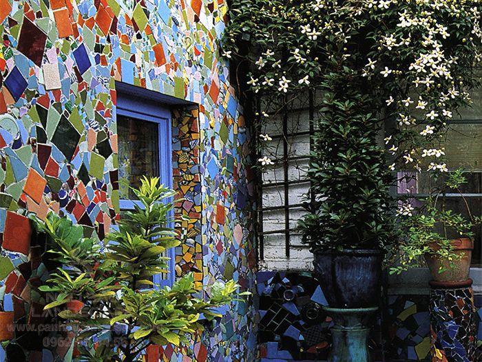 Ý tưởng thiết kế tường theo phong cách Mosaic