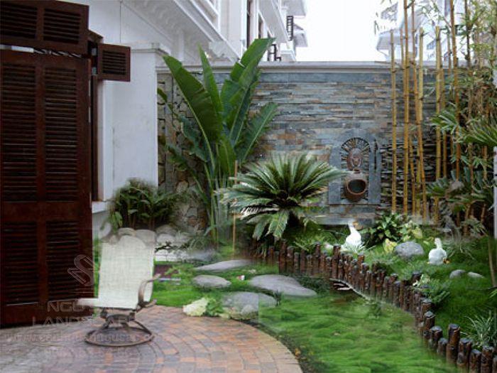 Ý tưởng thiết kế bồn hoa trong sân vườn