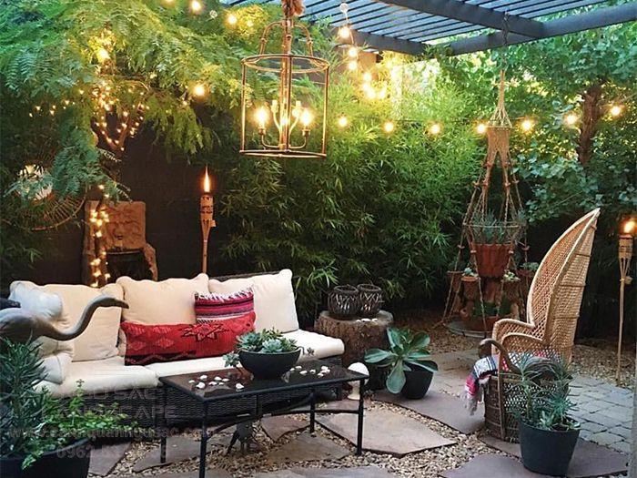 Mẫu thiết kế sân vườn 30m2 ấm cúng và ấn tượng