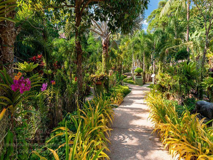 Lối đi sân vườn cho resort sang trọng
