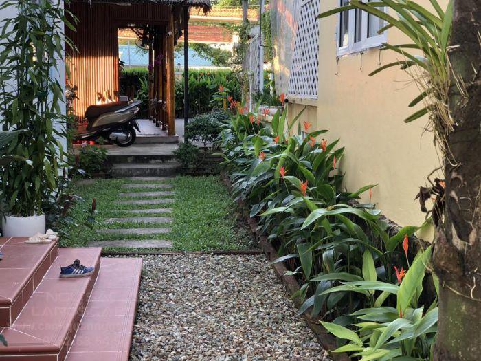 Sân vườn nhà phố phong cảnh nhiệt đới