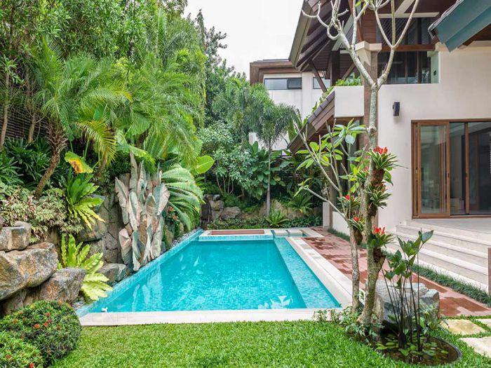Thiết kế sân vườn homestay nhiệt đới