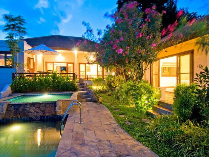 Thiết kế sân vườn biệt thự nhiệt đới